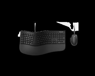 微软人体工学桌面套装 黑色