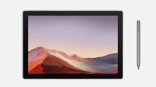Surface Pro 7 平板模式