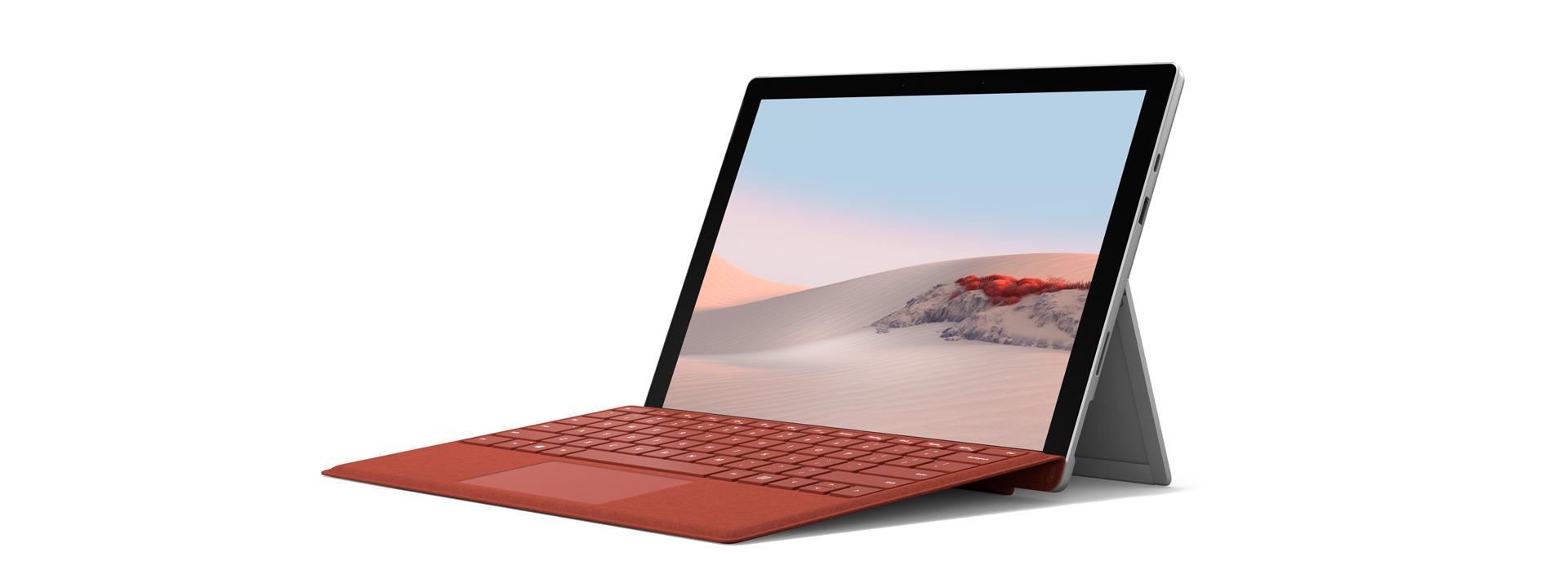 Surface 专业键盘盖打开一定角度的 Surafce Pro 7