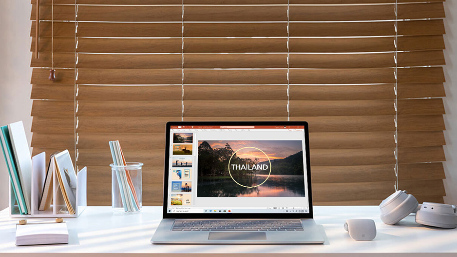Surface Laptop 3 上的 Microsoft PowerPoint