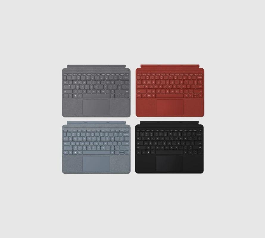各种颜色的 Surface Go 2 特制版专业键盘盖