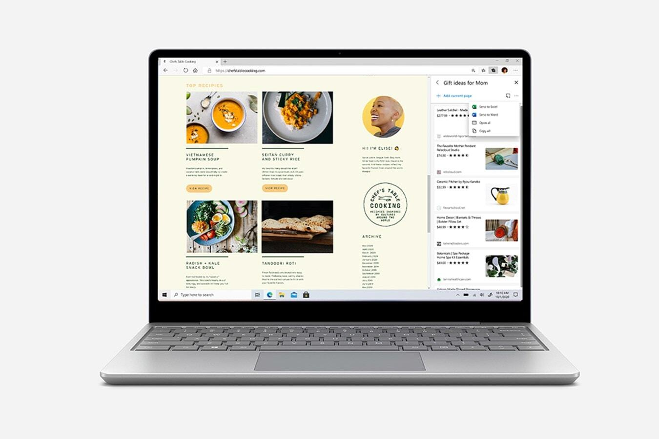 带 Edge Collections 的 Surface Laptop Go