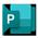 Microsoft Publisher 图标。